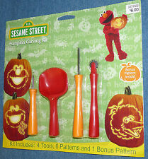 SESAME STREET pumpkin carving kit - 2012 edition - NEW package HALLOWEEN