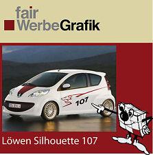 Aufkleber /  Sticker / Seitenbeschriftung / Dekor / Peugeot 107 / #027