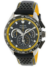 Pulsar Men's Chronograph Leather Watch PU2007