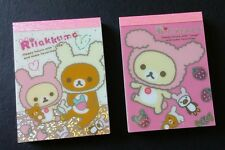 San-x Rilakkuma Korilakkuma Usagi Mini Memo Pad Lot Stationery Kawaii Bunny