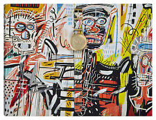 Quadro moderno astratto ART arredamento 100x70 basquiat tela abstract graffiti