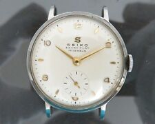 Authentic SEIKO EXTRA FLAT Hand Winding Mens Wrist Watch 15Jewels Vintage