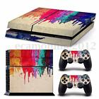 Graffiti Decal Vinyl Skin Sticker Per PS4 Playstation Console Set + 2 Controller