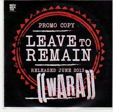 (ED913) Leave To Remain, Wara - DJ CD