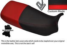 BLACK & BRIGHT RED CUSTOM FITS HONDA XL 600 V TRANSALP DUAL SEAT COVER