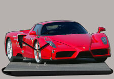 MODEL CARS, FERRARI ENZO RED -01 with Clock