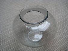 WAGENFELD VLG Vase Lausitzer Herzvase klein 8,5 cm Rauchglas alt antik museal