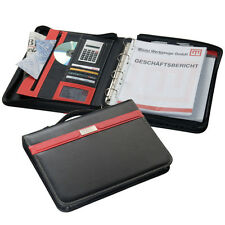 A4 EXECUTIVE CONFERENCE FOLDER ZIPPED + CALCULATOR NOTEPAD 4D RING BINDER 2187