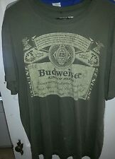 BUDWEISER - MEN'S OLD NAVY COLLECTIBLES T SHIRT-SIZE XX LARGE-BROWN