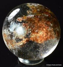 Quarz Kugel Hämatit Chlorit Quartz Gemstone Sphere Chlorite 25.7 mm