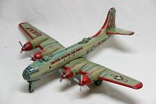 Vintage USAF Air Force Tin Litho Toy Bomber Airplane Plane Made Japan Yonezawa