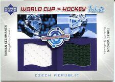 2004-05 Upper Deck Roman Cechmanek Tomas Vokoun World Cup Of Hockey Dual Jerseys