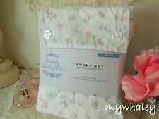 Simply Shabby Chic *CANDY PiNK Cottage Floral FULL SHEET SET Rachel Ashwell NEW!