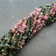 "Tourmaline Multi Chip Beads 35"" Strand Semi-Precious Gemstone"