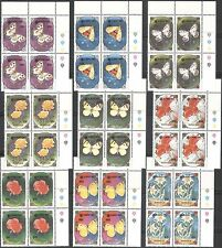 Mongolia 1991 Butterflies/Moths/Insects/Flowers/Expo 9v Colour blks (n42243)