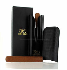 Habanos SA - Original 2 Cigars Holder COHIBA 50° Anniversary Case Leather