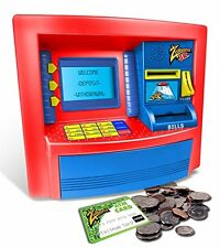 NEW Jr. Deluxe ATM Savings Bank Play ATM For Kids ATM Card Included By Zillionz