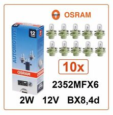 10x 2352MFX6 2W 12V BX8.4d OSRAM miniature interior signal auto car Germany