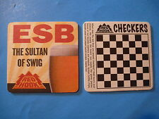 Beer Breweriana Coaster ~*~ REDHOOK ESB The Sultan of Swig ~*~ Checkers Game!
