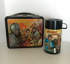 VINTAGE 1974 PLANET OF THE APES METAL LUNCH BOX & THERMOS BY ALADDIN