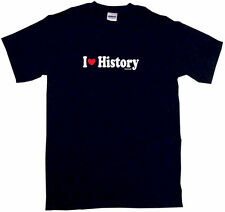 I Heart Love History Mens Tee Shirt Pick Size Color Small-6XL