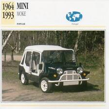 1964-1993 MINI MOKE Classic Car Photograph / Information Maxi Card