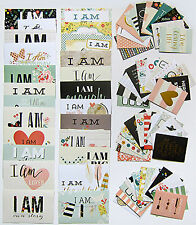 Simple Stories Snap  [I Am] Double-Sided Cards with foil accents  (72 Pack)