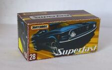 Repro Box Matchbox Superfast Nr.28 1970 Mustang Boss neue Box