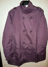 Beautiful Ladies New Movitex Purple Button up Mac Trench Coat size 10-12