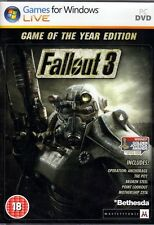 FALLOUT 3: Game of the Year Edition GOTY PC (NEW & IN Stock) FREE US SHIPPING