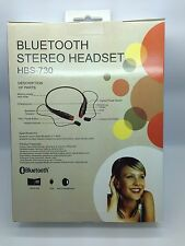 LOT OF 10 NEW BLUETOOTH STEREO HEADSET HBS-730 AROUND THE NECK MIXED OF 5 COLORS