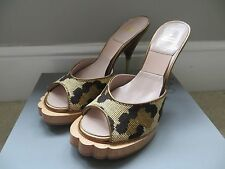 Vivienne Westwood AW15 animale Mule Leopard principale Catwalk heels con tacco ORB