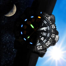 Luxury Mens Tritium Light Watch Navy SEAL Military Rubber Date Waterproof Watch