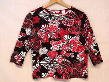 Laura Ashley 3/4 sleeve embroidered floral shirt / women's PM / VGC / bn22