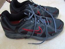 Men's Gray with Red Nike Size US 10 MED WIDTH (D,M)