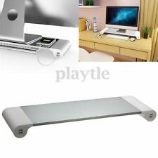Monitor Riser Stand Save Space Storage Table Desktop USB For Computer Laptop Pad
