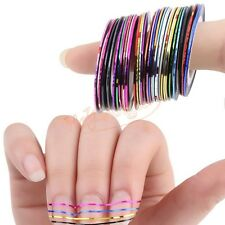 Premium 30PCS Rolls Foil Sticker Tape Shiny Laser for Nail Arts&Crafts Must Have