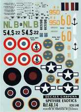 Colorado Decals 1/48 Exotic Supermarine Spitfire # 48014