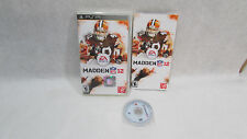 Madden NFL 12 (Sony PSP, 2011) With Manual & Case