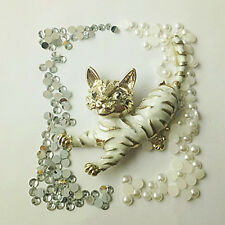 NEW cat 3D DIY Mobile Cell Phone Case Alloy Crystal  Deco Den Kit  AA211