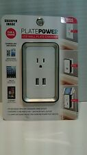 USB Port Electric Wall Charger Dock Station Socket Power Outlet Panel Plate