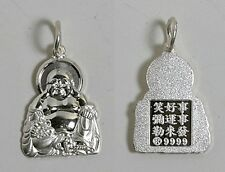 Sterling Silver Male BUDDHA Pendant Charm 1