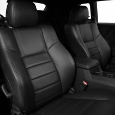 2011 2012 2013 2014 DODGE CHALLENGER BLACK KATZKIN LEATHER INTERIOR SEAT COVER