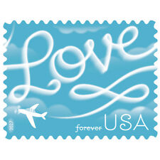Love Skywriting USPS Forever Stamp, Sheet of 20 Stamps