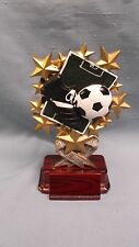 full color soccer trophy award multi star resin RSB19