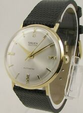"Mens 18K GRUEN Precision Self Winding Fully ""SERVICED"" 17 Jewel Vintage Watch"