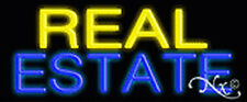 "BRAND NEW ""REAL ESTATE"" 24x10x3 REAL NEON SIGN W/CUSTOM OPTIONS 12143"