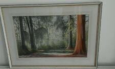 20TH CENTURY PAINTING NEW FOREST GLADE BY ROBERT CAMPBELL FROM PASTEL SOCIETY W1
