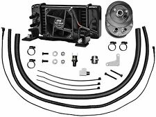 Jagg Oil Coolers Low-Mount 10 Row Fan-Assisted Oil Cooler Black Harley FLH 84-08