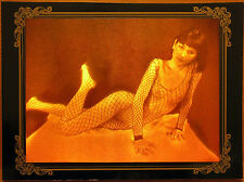 Rare true 3d film hologram Girl in fishnet (erotic)